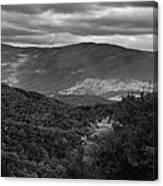 The Smokies In Black And White Canvas Print