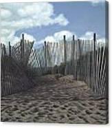 The Snow Fence Canvas Print
