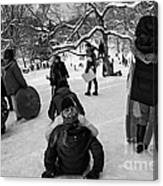 The Snowboarders Canvas Print