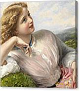 The Song Of The Lark Canvas Print