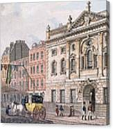 The South Front Of Ironmongers Hall, From R. Ackermanns Repository Of Arts 1811 Colour Litho Canvas Print