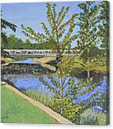 The South Nation River At Spencerville Historic Mill Canvas Print