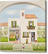 The Spanish Greengrocer, 1981 Canvas Print
