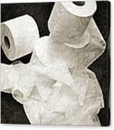 The Spare Rolls 1 - Toilet Paper - Bathroom Design - Restroom - Powder Room Canvas Print