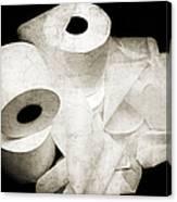 The Spare Rolls 2 - Toilet Paper - Bathroom Design - Restroom - Powder Room Canvas Print