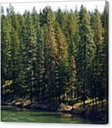 The Spokane River On Easter Sunday 2014 Canvas Print