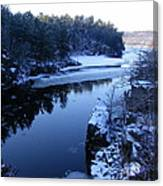 The St. Croix River In December Canvas Print
