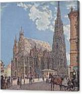 The St Stephen's Cathedral In Vienna Canvas Print