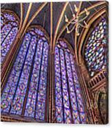 The Stained Glass Of La Sainte-chapelle Canvas Print