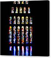 The Stained Glass Windows Of Mary's Church In Nazareth Canvas Print