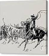 The Stampede Canvas Print