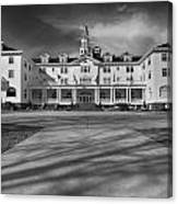 The Stanley Hotel Bw Canvas Print