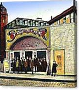 The Star Vaudeville Theatre In Westerly Ri In 1909 Canvas Print
