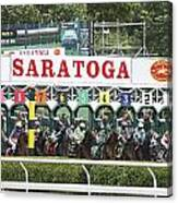 The Start At Saratoga Canvas Print