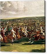 The Start Of The Memorable Derby Of 1844 Canvas Print