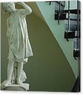 The Statue In The Stairway Canvas Print