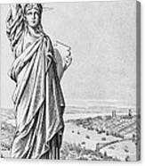 The Statue Of Liberty New York Canvas Print