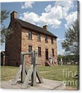 The Stone House At Manassas Canvas Print