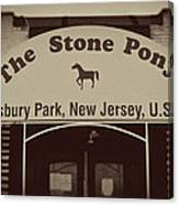 The Stone Pony Vintage Asbury Park New Jersey Canvas Print