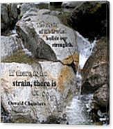 The Strain Of Life... - Yosemite Canvas Print