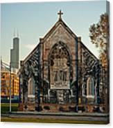 The Stranger's Church And Willis Tower Canvas Print