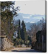 The Street In Upper Town 2 Canvas Print