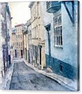 The Streets Of Old Quebec City Canvas Print