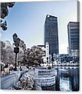 The Strip In Infrared Canvas Print