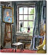 The Studio Of Juliet Pannett Canvas Print