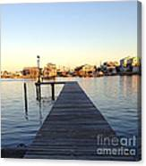 The Sun Begins To Set On Long Beach Island Canvas Print