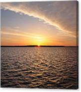 The Sun Coming Up On The Chesapeake Canvas Print