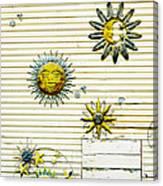The Sun Moon And Stars Canvas Print