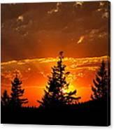 The Sun Retreats Canvas Print