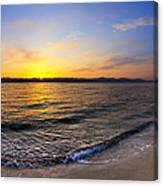 The Sun Rises Over The Red Sea In Egypt Canvas Print