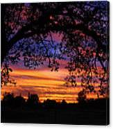 The Sun Sets For Mike Canvas Print