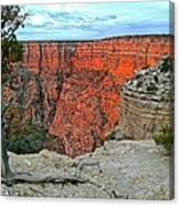 The Sun Shines On The Canyon Canvas Print