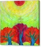 The Sun Three Canvas Print