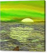 The Sun.do Not Go. Canvas Print