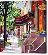 The Sunlit Shops Canvas Print