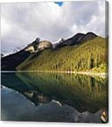 The Sunny Side Of Lake Louise Canvas Print