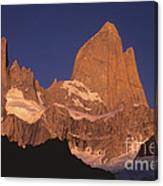 The Sunrise Of Fire Mt Fitzroy Canvas Print