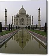 The Taj Mahal In Agra India At Dusk. Canvas Print