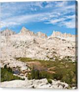 The Tall Peaks Of Granite Park Canvas Print