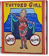 The Tattoed Girl Canvas Print