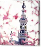 The Temple Bell Dies Away 1. Pink Spring In Amsterdam Canvas Print