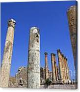 The Temple Of Artemis At Jerash Jordan Canvas Print