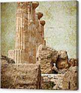 The Temple Of Heracles Canvas Print