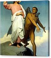 The Temptation Of Christ Canvas Print