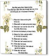 The Ten Commandments Canvas Print
