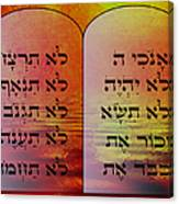 The Ten Commandments - Featured In Comfortable Art Group Canvas Print